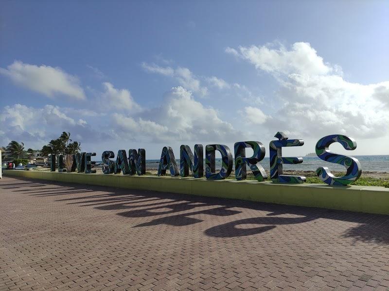 Letrero I love San Andrés